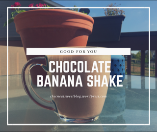 Chocolate Banana Shake (Printable Recipe Card)