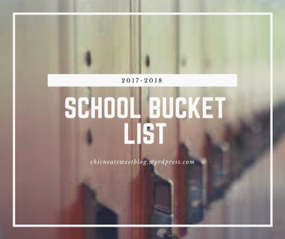 school bucket list cover