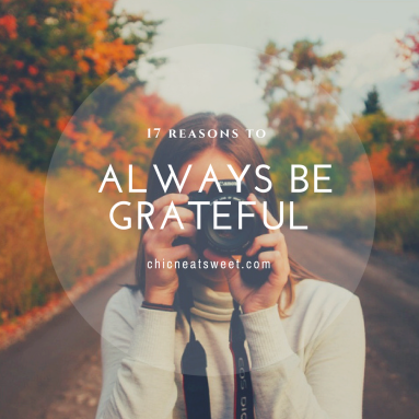 17 reasons to always be grateful