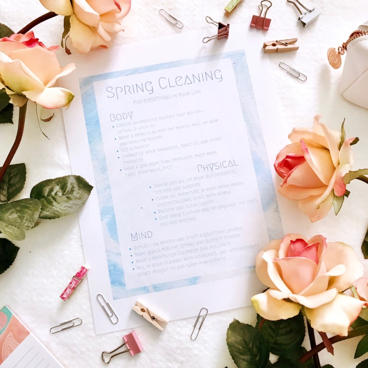 Spring Cleaning- All Areas Of Your Life
