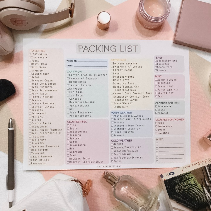 FREEBIE // Travel Packing List